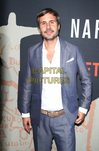 NEW YORK, NY August 21, 2017 Andres Baiz  attend Netflix Original Series present premiere of Season 3 NARCOS at AMC Lincoln Square in  New York August 21 2017.<br /> CAP/MPI/RW<br /> &copy;RW/MPI/Capital Pictures