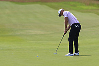 Lucas Bjerregaard (DEN) on the 2nd green during Round 1 of the Aberdeen Standard Investments Scottish Open 2019 at The Renaissance Club, North Berwick, Scotland on Thursday 11th July 2019.<br /> Picture:  Thos Caffrey / Golffile<br /> <br /> All photos usage must carry mandatory copyright credit (© Golffile | Thos Caffrey)
