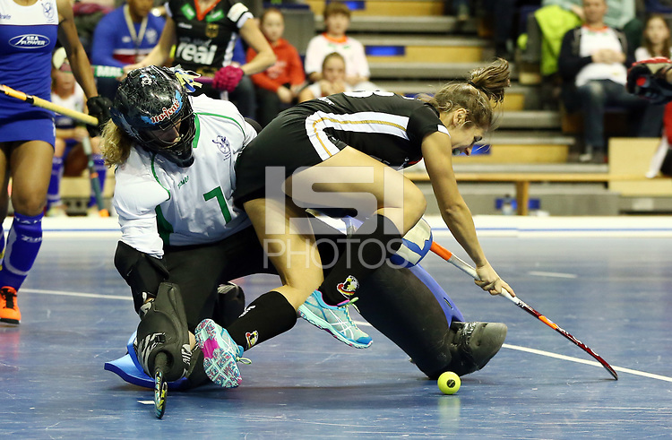 goalkeeper Petro STOFFBERG, Marie Maevers /   /        /   / Sport / Hockey Hnhockey / World Championships Weltmeisterschaft Damen /  2017/2018 / 07.02.2018 / GER BRGermany vs. Namibia  *** Local Caption *** © pixathlon<br /> Contact: +49-40-22 63 02 60 , info@pixathlon.de