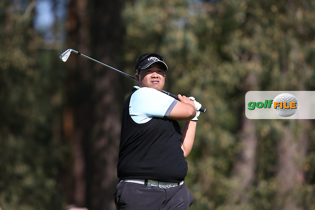 Kiradech APHIBARNRAT (THA) during Round One of the 2015 BMW PGA Championship over the West Course at Wentworth, Virginia Water, London. Picture David Lloyd, www.golffile.ie: 21/05/2015