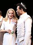 "Kelli O'Hara and Corbin Bleu during the Broadway Opening Night Curtain Call for ""Kiss Me, Kate""  at Studio 54 on March 14, 2019 in New York City."
