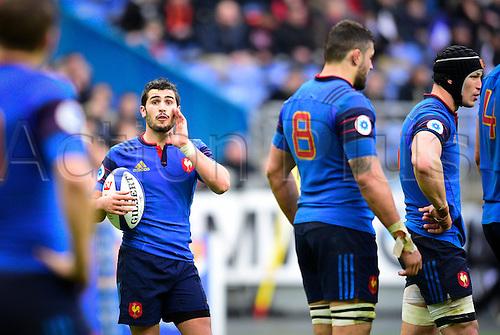 13.02.2016. Stade de France, Paris, France. 6 Nations Rugby international. France versus Ireland.  Sebastien Bezy ( France ) gives his line instructions