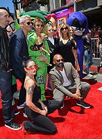 Halsey, Khary Payton, Scott Melville, Greg Cipes, Hynden Walch, Tara Strong, Kristen Bell &amp; Sam Register at the premiere for &quot;Teen Titans Go! to the Movies&quot; at the TCL Chinese Theatre, Los Angeles, USA 22 July 2018<br /> Picture: Paul Smith/Featureflash/SilverHub 0208 004 5359 sales@silverhubmedia.com