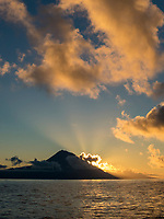 WQ6671-D. Mount Pico at sunrise. This stratovolcano on Pico Island in the Azores is 7713 feet high, and the tallest mountain in all of Portugal. Pico Island, Azores, Portugal, Atlantic Ocean.<br /> Photo Copyright © Brandon Cole. All rights reserved worldwide.  www.brandoncole.com