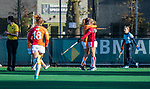Laren -doelpunt voor Oranje Rood (1-3) tijdens de Livera hoofdklasse  hockeywedstrijd dames, Laren-Oranje Rood (1-3).  COPYRIGHT KOEN SUYK