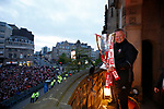 Chris Wilder manager of Sheffield Utd on the Town Hall Balcony during the open top bus parade from Bramall Lane Stadium to Sheffield Town Hall, Sheffield. Picture date: May 2nd 2017. Pic credit should read: Simon Bellis/Sportimage