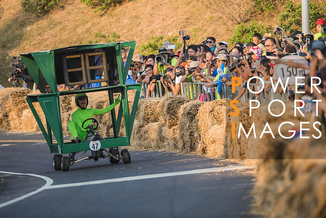 Team 小綠人是我們的  in action during the Red Bull Soapbox Race 2017 Taipei at Multipurpose Gymnasium National Taiwan Sport University on 01 October 2017, in Taipei, Taiwan. Photo by Victor Fraile / Power Sport Images