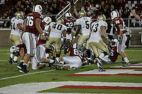 16 September 2006: Anthony Kimble scores the first touchdown in the new stadium during Stanford's 37-9 loss to Navy during the grand opening of the new Stanford Stadium in Stanford, CA.
