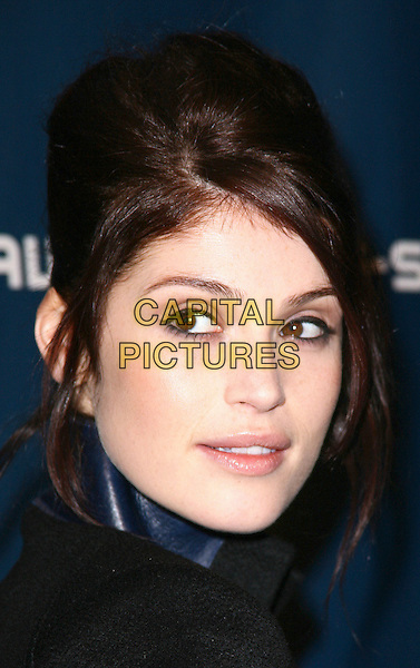 GEMMA ARTERTON .G-Star Raw arrivals at MBFW Fall 2011 held at Lincoln Center, New York, NY, USA, 12th February 2011..portrait headshot black hair up eyeliner beehive .CAP/ADM/PZ.©Paul Zimmerman/AdMedia/Capital Pictures.