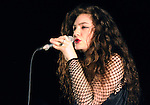 "Lorde performs live at The Music Box while promoting  her upcoming ""Pure Heroine"" album in Hollywood, California on September 24,2013                                                                               © 2013 Debbie VanStory / RockinExposures"