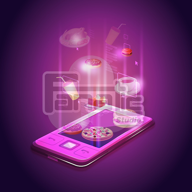 Illustrative image of mobile phone applications