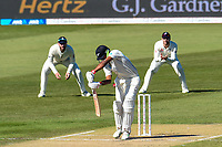 Ish Sodhi of the Black Caps edges the ball to Jonny Bairstow of England during Day 3 of the Second International Cricket Test match, New Zealand V England, Hagley Oval, Christchurch, New Zealand, 1st April 2018.Copyright photo: John Davidson / www.photosport.nz
