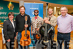 Pictured at the Mountain Roots Weekend in Cahersiveen on Saturday were Elma Shine(CCU), Martin Gilmore(guitar, banjo, and vocals), Nick Amodeo (mandolin, guitar, vocals), Ian Haegle (bass, vocals)& Michael O'Connell(CCU), the Gilmore Trio traveled from Denver, Colorado to take part in the weekend.