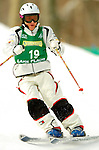 15 January 2005 - Lake Placid, New York, USA - Emiko Torito representing the USA, competes in the FIS World Cup Ladies' Moguls Freestyle ski competition, ranking 10th for the day, at Whiteface Mountain, Lake Placid, NY. ..Mandatory Credit: Ed Wolfstein Photo.