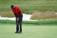 Tiger Woods (USA) on the 17th during the final round of the US Open Championship, Pebble Beach Golf Links, Monterrey, Calafornia, USA. 16/06/2019.<br /> Picture Fran Caffrey / Golffile.ie<br /> <br /> All photo usage must carry mandatory copyright credit (© Golffile | Fran Caffrey)