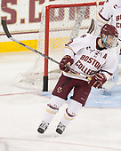 Austin Cangelosi (BC - 9) - The visiting University of Vermont Catamounts tied the Boston College Eagles 2-2 on Saturday, February 18, 2017, Boston College's senior night at Kelley Rink in Conte Forum in Chestnut Hill, Massachusetts.Vermont and BC tied 2-2 on Saturday, February 18, 2017, Boston College's senior night at Kelley Rink in Conte Forum in Chestnut Hill, Massachusetts.