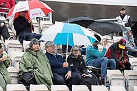 Umbrellas out as the conditions deteriorated and play suspended during South Africa vs West Indies, ICC World Cup Cricket at the Hampshire Bowl on 10th June 2019