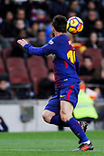 7th January 2018, Camp Nou, Barcelona, Spain; La Liga football, Barcelona versus Levante; Leo Messi of FC Barcelona controls the high ball and turns to shoot