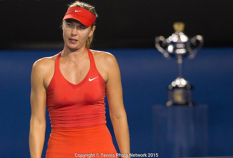MARIA SHARAPOVA (RUS)<br /> <br /> Tennis - Australian Open 2015 - Grand Slam -  Melbourne Park - Melbourne - Victoria - Australia  - 31 January 2015. <br /> &copy; AMN IMAGES