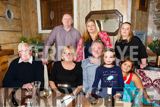 Margaret Dowling and Mke Dowling  celebrate birthdays with family at Croi the Square on Saturday Pictured Front l-r Tomas Dowling , Margaret Dowling, Sophie O Mahony, Sophia white Back l-r Shane Dowling, Emma White, Emma O'Mahony