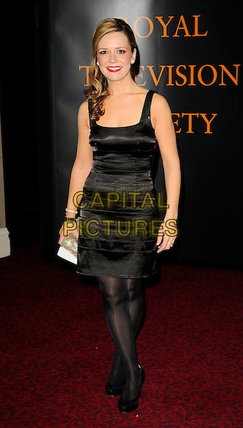 RACHEL LESKOVAC .RTS Programme Awards 2009, Grosvenor House Hotel, Park Lane, London, England, UK, 17th March 2009..full length black dress shiny tights shoes .CAP/CAN.©Can Nguyen/Capital Pictures