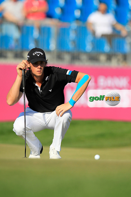Thomas PIETERS (BEL) lines up his putt on the 10th green during Thursday's Round 2 of the 2015 Commercial Bank Qatar Masters held at Doha Golf Club, Doha, Qatar.: Picture Eoin Clarke, www.golffile.ie: 1/22/2015
