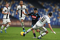 Lorenzo Insigne of Napoli and Matteo Darmian of Parma compete for the ball <br /> Napoli 14-12-2019 Stadio San Paolo <br /> Football Serie A 2019/2020 <br /> SSC Napoli - Parma Calcio 1913<br /> Photo Cesare Purini / Insidefoto