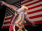 Ken Paul performs an Eagle Dance during the NV150 Sesquicentennial celebration during the 3rd Annual Governor's Banquet at the Grand Sierra Resort in Reno, Nev., on Thursday, Oct. 24, 2013.<br /> (Cathleen Allison/Las Vegas Review-Journal)