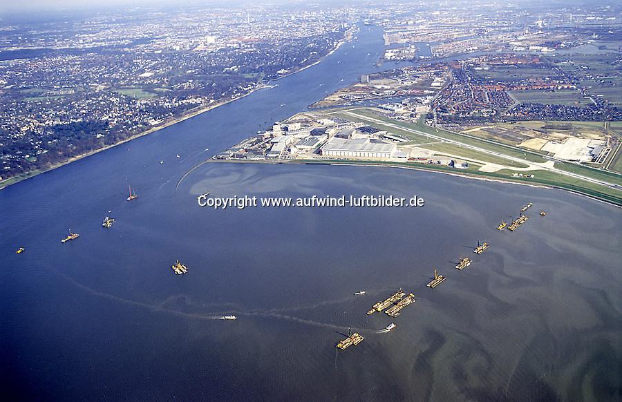 Deutschland, Hamburg, Finkenwerder, Mühlenberger Loch, Flughafen, MBB, Airbus Industrie
