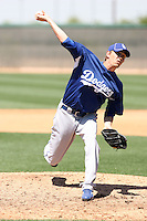 Travis Schlichting, Los Angeles Dodgers 2010 minor league spring training..Photo by:  Bill Mitchell/Four Seam Images.