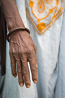 Fulani elder's hands at Tambacounda, Senegal