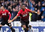 20.10.2018 St Mirren v Kilmarnock:  Aaron Tshibola celebrates his goal