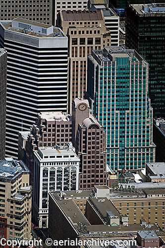 aerial photograph 55 Second Street office tower 595 Market St 33 New Montgomery Street San Francisco