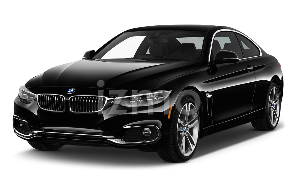 2020 BMW 4 Series 430i Coupe 2 Door Coupe angular front stock photos of front three quarter view
