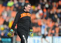 Blackpool Goalkeeper Coach Dave Timmins during the pre-match warm-up <br /> <br /> Photographer Kevin Barnes/CameraSport<br /> <br /> The EFL Sky Bet League One - Blackpool v Southend United - Saturday 9th March 2019 - Bloomfield Road - Blackpool<br /> <br /> World Copyright © 2019 CameraSport. All rights reserved. 43 Linden Ave. Countesthorpe. Leicester. England. LE8 5PG - Tel: +44 (0) 116 277 4147 - admin@camerasport.com - www.camerasport.com