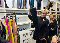 New York, January 23, 2015. Australian Foreign Minister Julie Bishop site visit to GILT Group and meeting with Chief Operating Officer, Ms Tracey Weber. photo by Trevor Collens.