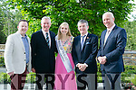 Tralee Chamber Alliance and the Rose of Tralee International Festival Business Networking Breakfast at the Rose Hotel on Friday. Pictured Bryan Carr - Event Controller of the Rose of Tralee International Festival, Kieran Ruttledge, CEO Tralee Chamber Alliance, Elysha Brennan, Rose of Tralee, Anthony O'Gara - Executive Chair of the Rose of Tralee International Festival, and Dermot Leen, AIB Bank