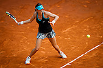 The tennis player Caroline Garcia during the match against Agnieszka Radwanska in the Madrid Open Tennis Tournament. In Madrid, Spain, on 09/05/2014.
