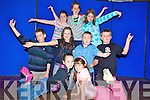 Shania O'Sullivan, Orla Reynolds, jack Smith, Ava Wilkins, Fionn Corcoran, Conor Roche, Marie O'Connor, Katie Horgan and Tara O'Connor pictured during their KAMA stage school class in the CYMS, Killorglin on Saturday.