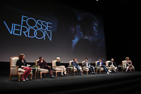 """LOS ANGELES - MAY 30: Moderator, Liz Shannon Miller, cast members Sam Rockwell, Michelle Williams, and Norbert Leo Butz, and Executive Producers Tommy Kail, Steven Levenson, Joel Fields, and Nicole Fosse attend the FYC Event for Fox 21 TV Studios & FX's """"Fosse/Verdon"""" at the Samuel Goldwyn Theater on May 30, 2019 in Los Angeles, California. (Photo by Frank Micelotta/FX/PictureGroup)"""