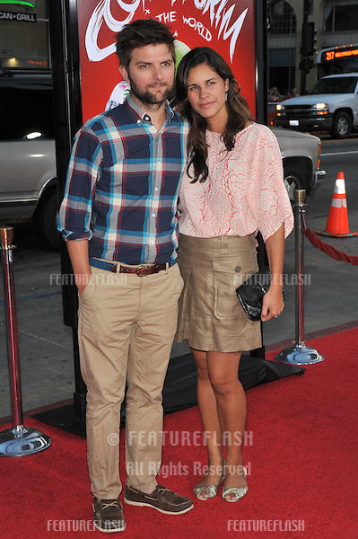 "Adam Scott & wife at the world premiere of ""Scott Pilgrim vs. The World"" at Grauman's Chinese Theatre, Hollywood..July 27, 2010  Los Angeles, CA.Picture: Paul Smith / Featureflash"
