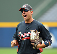 29 March 2008: Jeff Francoeur of the Atlanta Braves in an exhibition game against the Cleveland Indians at Turner Field in Atlanta, Ga.   Photo by: Tom Priddy/Four Seam Images