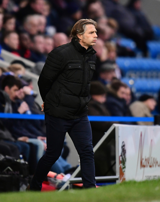 Wycombe Wanderers manager Gareth Ainsworth shouts instructions to his team from the dug-out<br /> <br /> Photographer Chris Vaughan/CameraSport<br /> <br /> The Emirates FA Cup Second Round - Chesterfield v Wycombe Wanderers - Saturday 3rd December 2016 - Proact Stadium - Chesterfield<br />  <br /> World Copyright &copy; 2016 CameraSport. All rights reserved. 43 Linden Ave. Countesthorpe. Leicester. England. LE8 5PG - Tel: +44 (0) 116 277 4147 - admin@camerasport.com - www.camerasport.com