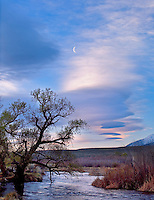 Half Moon at Sunrise, Owens River