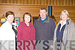 Sr Frances Day Tralee, Noreen, Sean O'Sullivan Killarney and Bernie McCaffery Tralee at the Malton Tuesday night