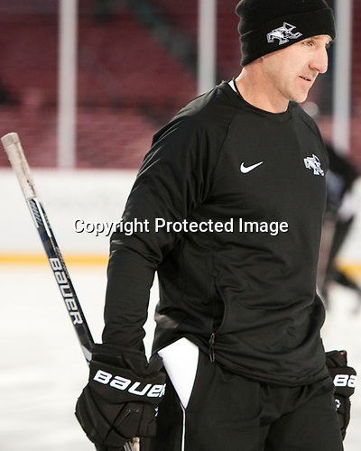 Nate Leaman (PC - Head Coach) - The Providence College Friars practiced at Fenway on Friday, January 6, 2017, in Boston, Massachusetts.