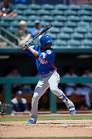 Tennessee Smokies Luis Vazquez (40) at bat during a Southern League game against the Jacksonville Jumbo Shrimp on April 29, 2019 at Baseball Grounds of Jacksonville in Jacksonville, Florida.  Tennessee defeated Jacksonville 4-1.  (Mike Janes/Four Seam Images)