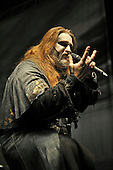 POWERWOLF - vocalist Attila Dorn - performing live at the Empire in Shepherds Bush London UK - 03 Feb 2017.  Photo credit: Zaine Lewis/IconicPix