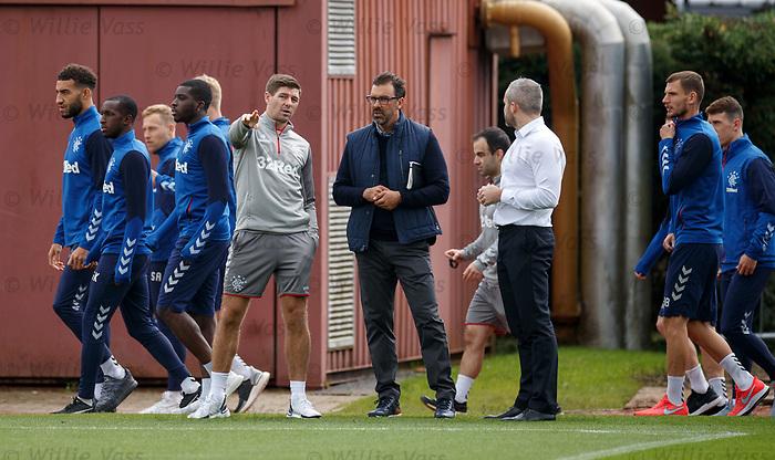 26.09.2018 Rangers training: Steven Gerrard
