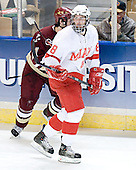 Benn Ferreiro, Marty Guerin - The Boston College Eagles defeated the Miami University Redhawks 5-0 in their Northeast Regional Semi-Final matchup on Friday, March 24, 2006, at the DCU Center in Worcester, MA.